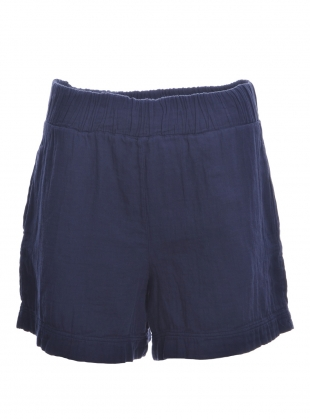 GILMA ORGANIC COTTON SHORTS. Indigo. - last pair (xs) by Beaumont Organic