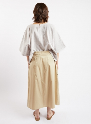 Young British Designers: PULL SKIRT. Sand Poplin by Kate Sheridan