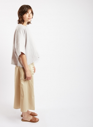 PULL SKIRT. Sand Poplin by Kate Sheridan