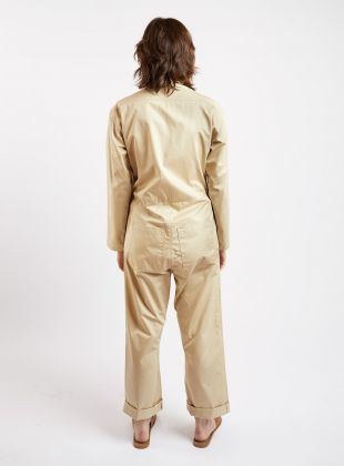 Young British Designers: BOILER SUIT. Sand Poplin. by Kate Sheridan