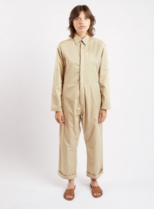 BOILER SUIT. Sand Poplin. by Kate Sheridan