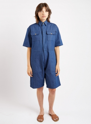 Young British Designers: SHORT BOILER SUIT. Denim. by Kate Sheridan