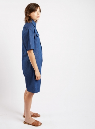 SHORT BOILER SUIT. Denim. - Last one (L) by Kate Sheridan