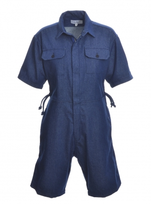 SHORT BOILER SUIT. Denim. by Kate Sheridan