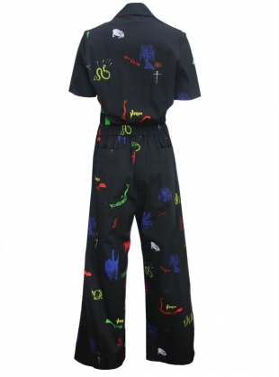 Young British Designers: WOLF BOILER SUIT. Voodoo Swamp - last one XXS by Klements