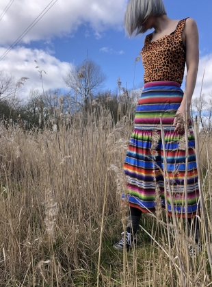 DUSK MIDI SKIRT. Marfa Sunset by Klements