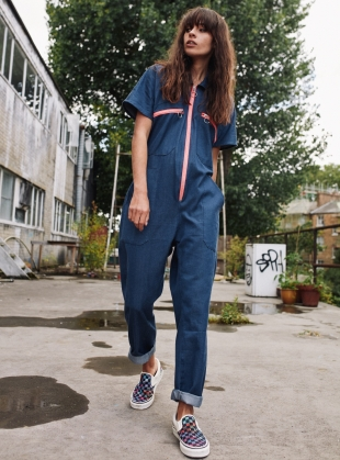 ORGANIC DENIM ASTER BOILERSUIT - Last one (XS) by RIYKA