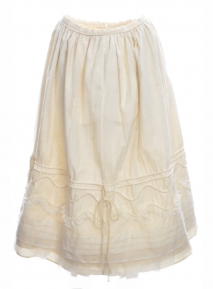 Young British Designers: Victoriana Cotton and Lace Midi Skirt by Renli Su