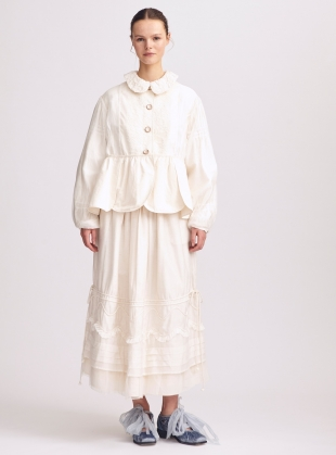 Victoriana Cotton and Lace Midi Skirt - Sold out by Renli Su