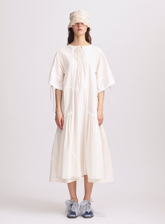 Young British Designers: Louisa Natural Cotton Dress - Sold out by Renli Su