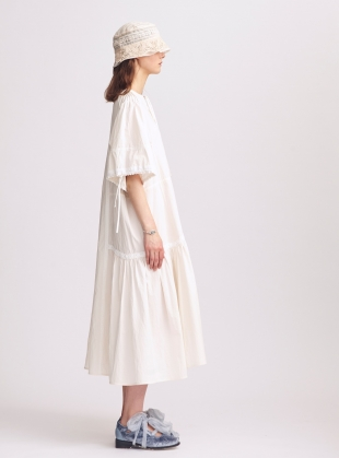 Young British Designers: Louisa Natural Cotton Dress - Last one (S) by Renli Su
