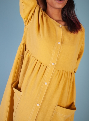 Young British Designers: SAMUEL DRESS. Saffron - Last one (6) by LF Markey