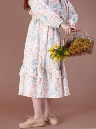 Young British Designers: STATICE FLORAL DRESS by Meadows