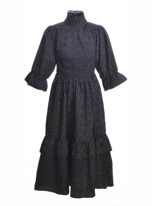 CLEMATIS Navy Ditsy DRESS  by Meadows