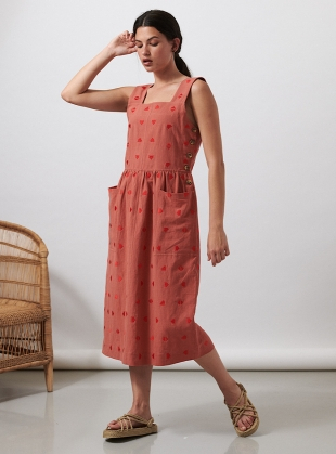 Dusty Rose SHORE DRESS - Last one (XS) by SIDELINE