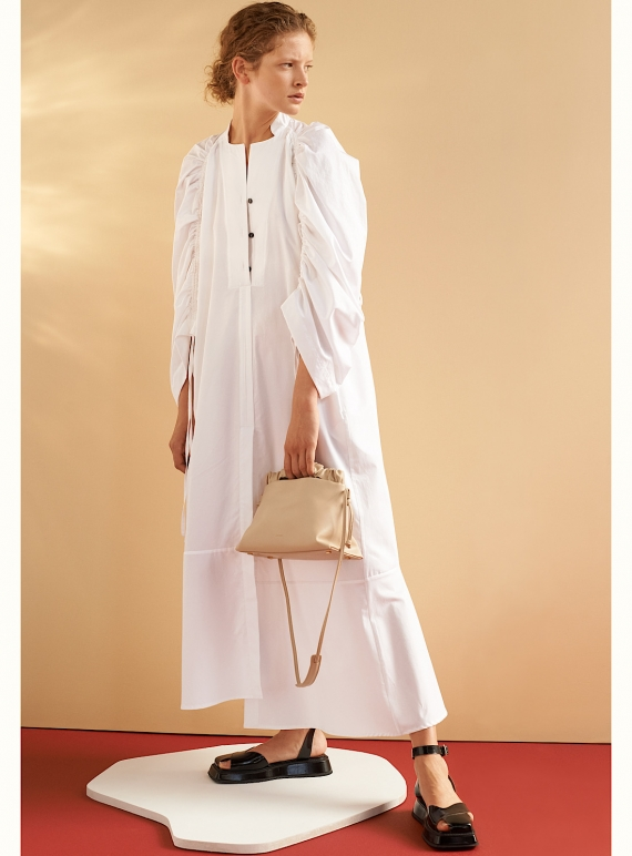Young British Designers: JESSE SHIRT DRESS. White Cotton by Eudon Choi