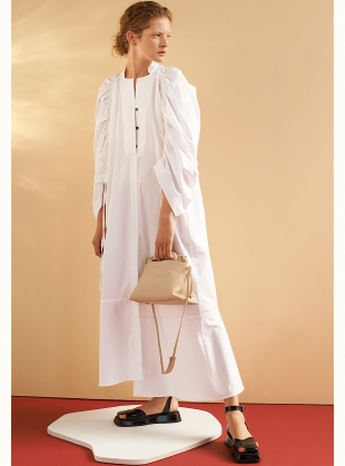 JESSE SHIRT DRESS. White Cotton by Eudon Choi
