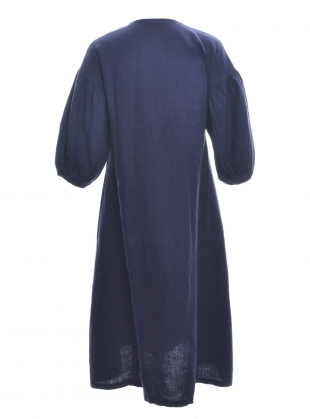 Young British Designers: ANDREIA-MAY Linen Dress. Midnight  by Beaumont Organic