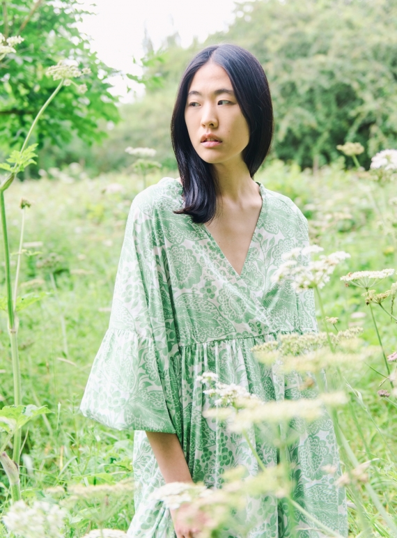 TULSI ORGANIC COTTON DRESS. Green Botanical. by Beaumont Organic