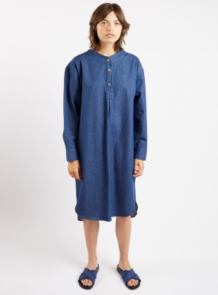SLUMBER SHIRT Dress. Denim.- last one s/m by Kate Sheridan