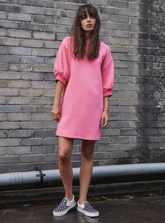 Young British Designers: APOLLO ORGANIC COTTON SWEAT DRESS  by RIYKA