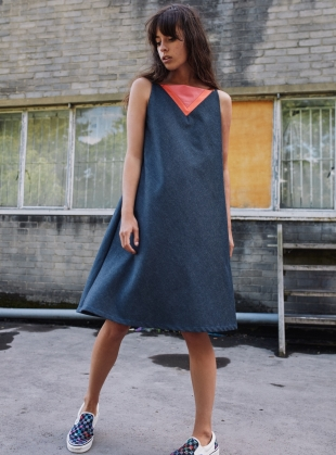 NEON DRESS in DENIM by RIYKA