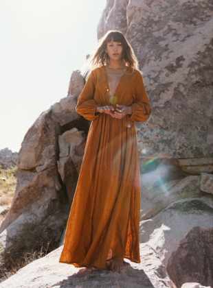 WILD HEART OCHRE EARTH DRESS by A Perfect Nomad