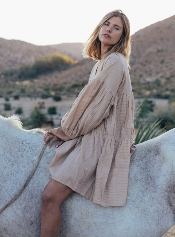 SYMI WARM SAND DRESS - Back in Stock by A Perfect Nomad