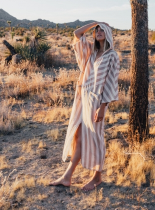 ESSAOUIRA SAND STRIPE Kaftan - Back in Stock by A Perfect Nomad
