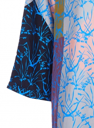 Young British Designers: MAXIMA SHIRT DRESS. Patchwork Blue - Last one (S) by Bella Singleton