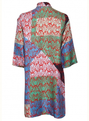 Young British Designers: MAXIMA SHIRT DRESS. Patchwork Multi by Bella Singleton