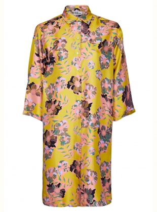 MAXIMA SHIRT DRESS. Yellow Floral by Bella Singleton