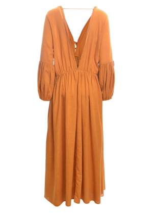Young British Designers: WILD HEART OCHRE EARTH DRESS - Last one by A Perfect Nomad