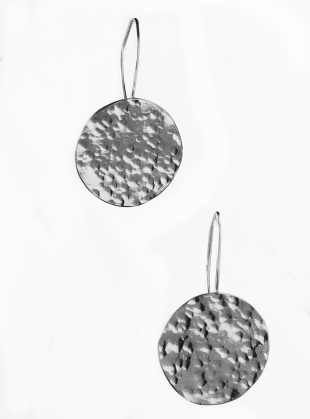Sarah Disc Earrings. Silver by India Mahon
