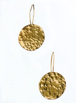 Sarah Disc Earrings. Gold Vermeil by India Mahon