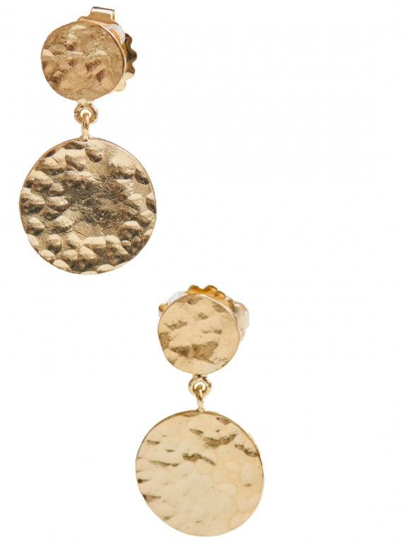 Young British Designers: Daisy Dangle Earrings. Gold Vermeil by India Mahon