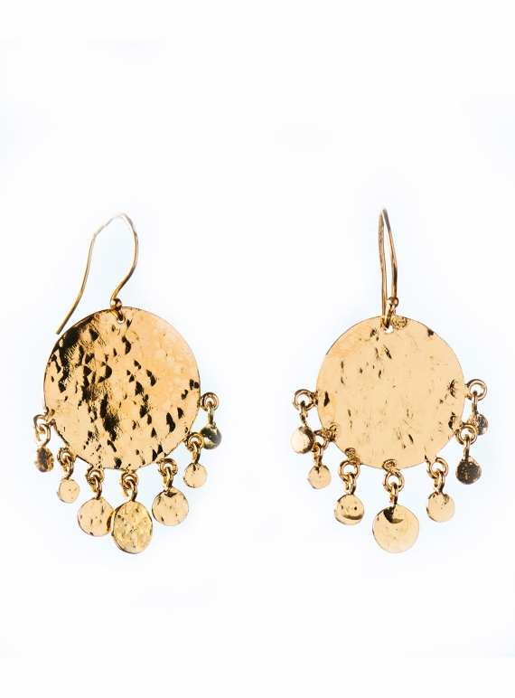 Young British Designers: Boo Chandelier Earrings. Gold Vermeil by India Mahon
