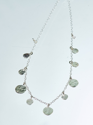 Louisa Sequin Necklace. Silver by India Mahon