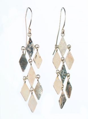 Daliah Diamond Chandelier Earrings. Silver by India Mahon