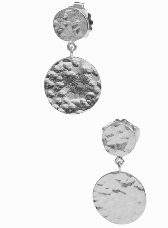 Young British Designers: Daisy Dangle Earrings. Silver by India Mahon