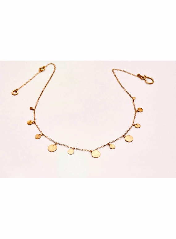 Young British Designers: Louisa Sequin Necklace. Gold Vermeil by India Mahon