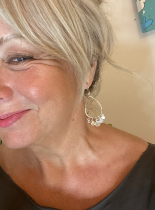 Tabitha Chandelier Earrings. Silver by India Mahon