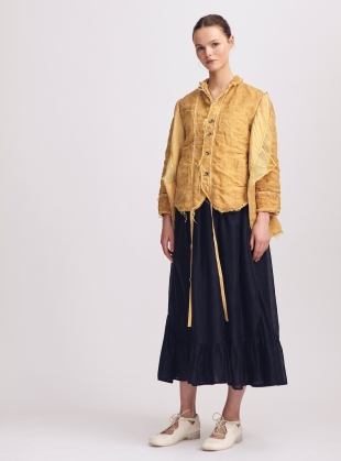 Old Ochre Maida Jacket by Renli Su