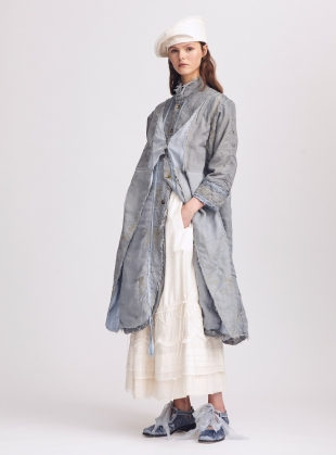 Young British Designers: Maggie Grey Blue Coat - last one (M) by Renli Su