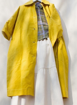 FARO OVERSIZED DRY OILSKIN MAC. Yellow by Cawley