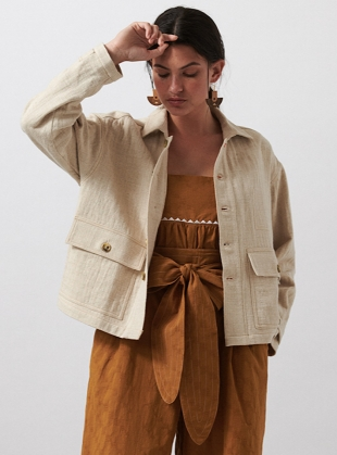 ECRU HETTIE JACKET - last one (XS) by SIDELINE