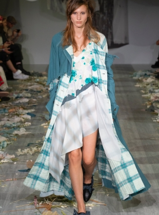 DISTRESSED LONG TRENCH. Teal - Last one (S) by WEN PAN