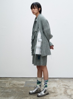 DISTRESSED BOYFRIEND BLAZER. Sage by WEN PAN
