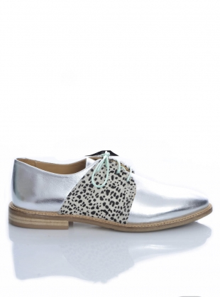 Young British Designers: SPANGLE. Silver Leather with Ponyskin by Rogue Matilda
