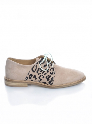 BUTTERKISS Soft Tan Suede Brogue  by Rogue Matilda